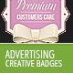 Creative Advertising Badges 1 - GraphicRiver Item for Sale
