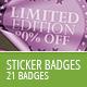 21 Modern Sticker Badges - Unlimited Colors - GraphicRiver Item for Sale