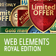 Royal Web Elements - GraphicRiver Item for Sale