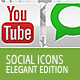 54 Social Media Icons - Elegant Edition