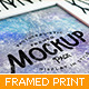Framed Print Photorealistic Mockup Pack - GraphicRiver Item for Sale