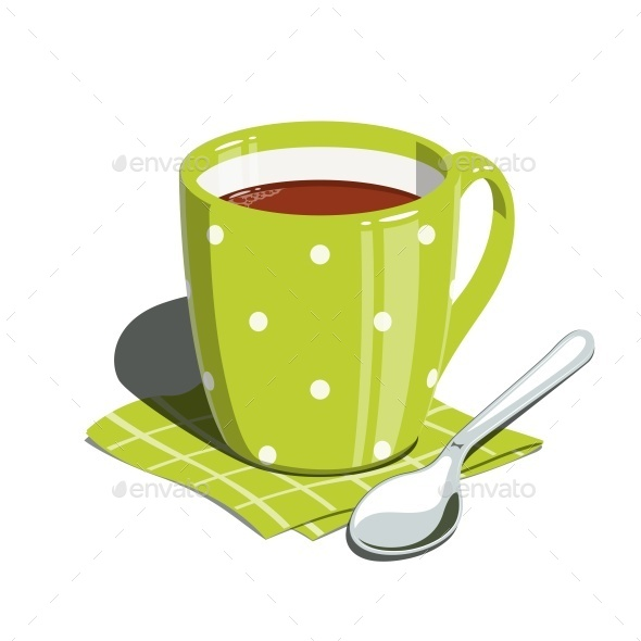 GraphicRiver Tea Cup and Spoon 11288376