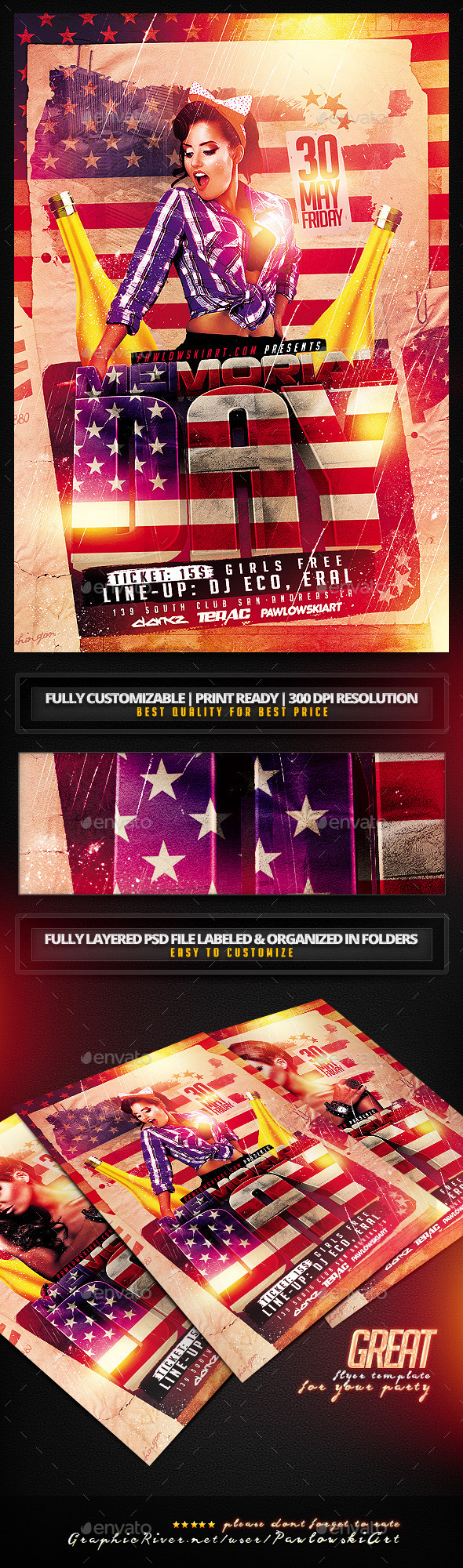 GraphicRiver Memorial Day Flyer Template 11288493