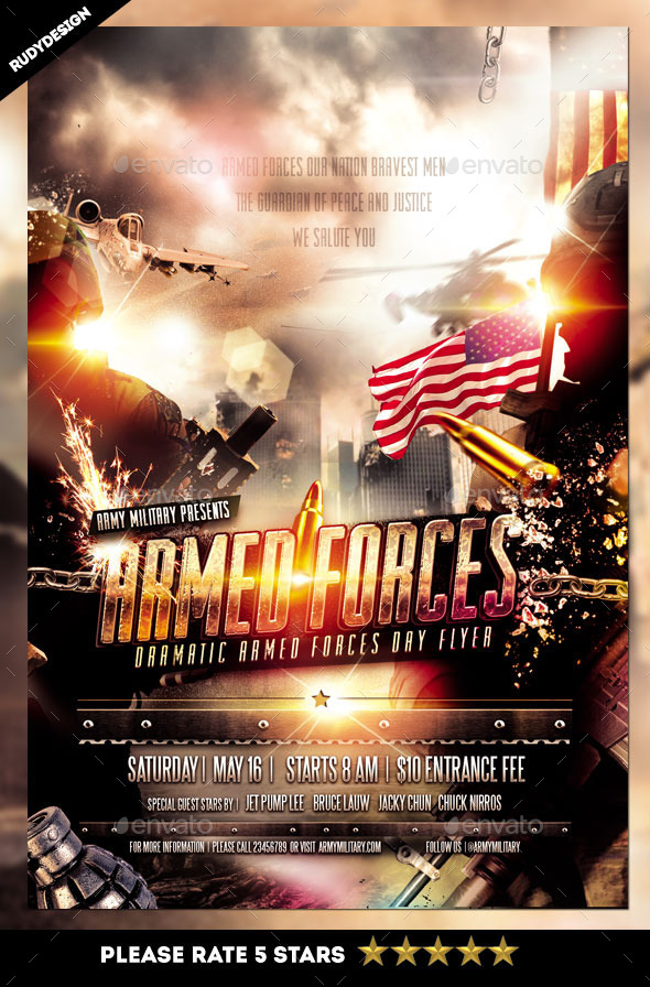 GraphicRiver Armed Forces Day Flyer Template 11288588