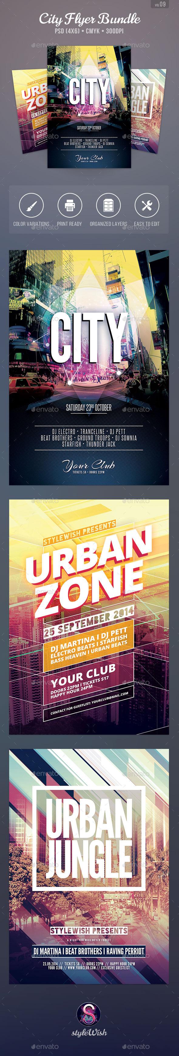 City Flyer Bundle Vol.09 - Clubs & Parties Events