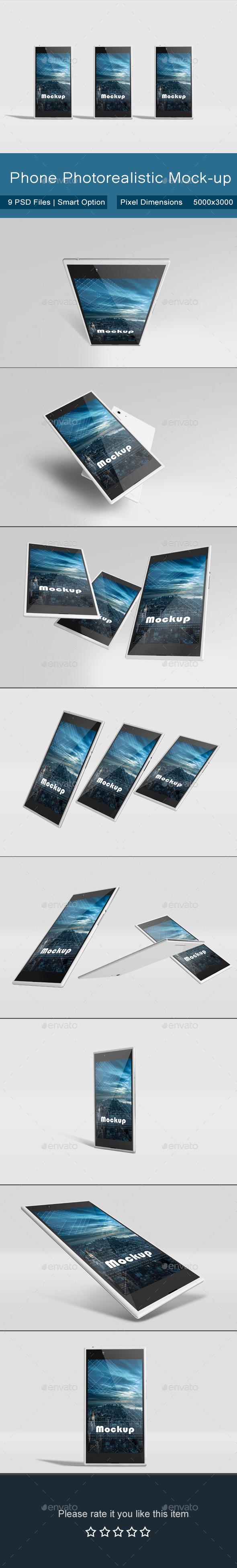 GraphicRiver Phone Photorealistic Mock-up 11288692