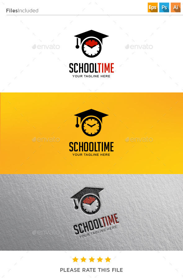 GraphicRiver School Time Logo 11288923