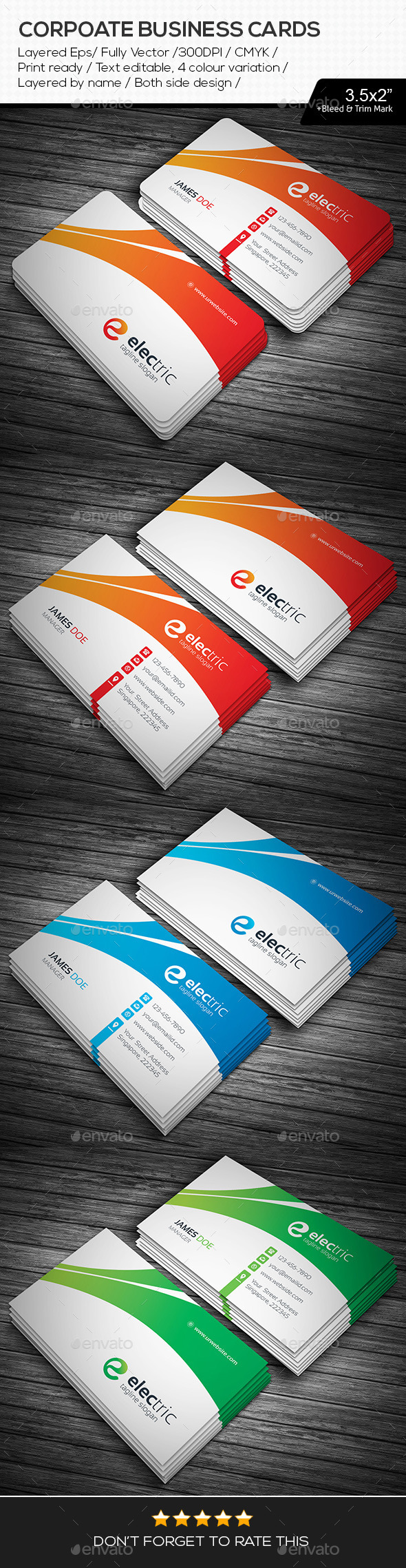 GraphicRiver Electric Corporate Business Cards 11289147