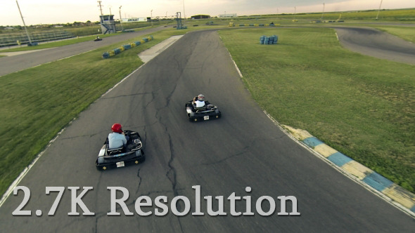 Flying Over Kart Race Track 2