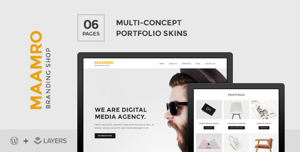 CodeCanyon Maamro Layers Style Kit Agency Portfolio Skin 11210368