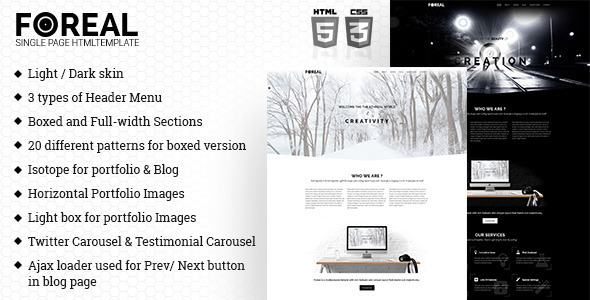ThemeForest Foreal Minimal Business HTML5 Template 11290444