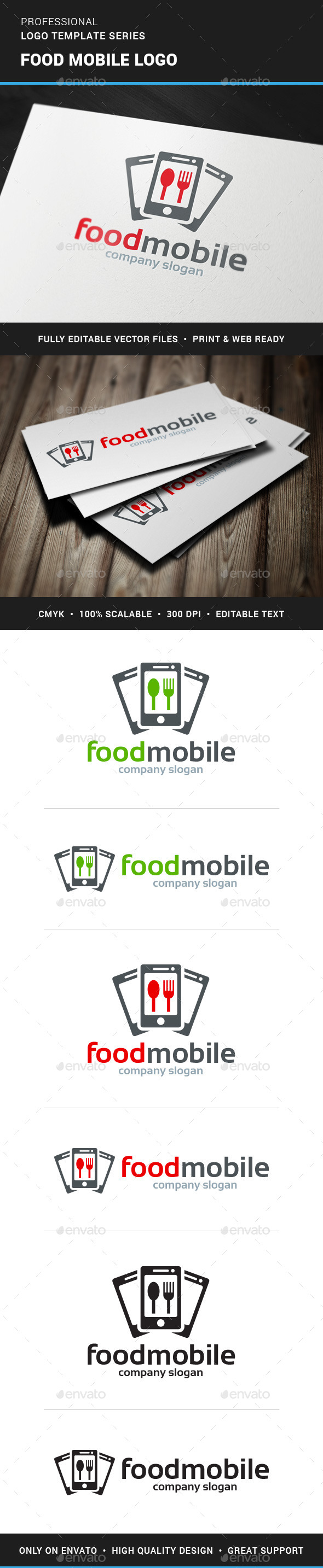 Food Mobile Logo Template