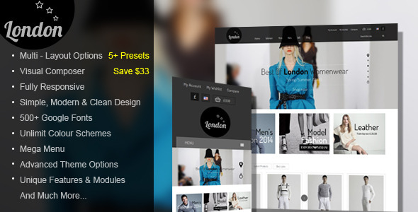 ThemeForest London Stars Responsive WooCommerce Theme 11290821