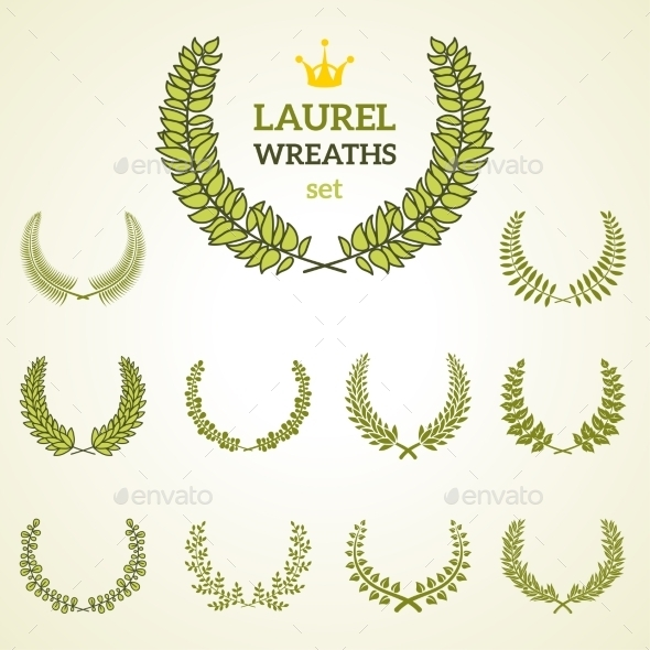 GraphicRiver Laurel Wreath Collection 11290820