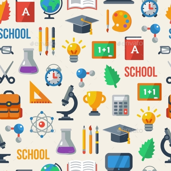 GraphicRiver Back To School Seamless Pattern 11291067
