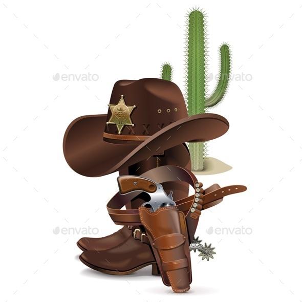 GraphicRiver Cowboy Concept 11291077