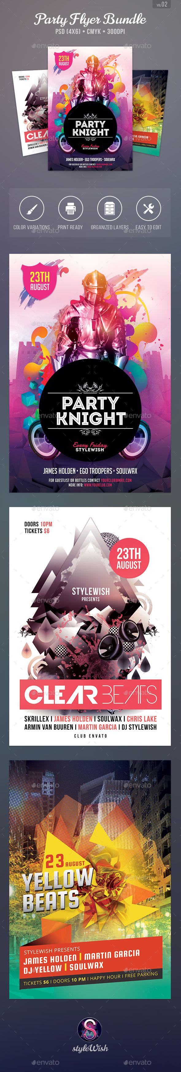 Party Flyer Bundle Vol.2 - Clubs & Parties Events