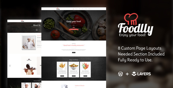 CodeCanyon Foodlly Layers Style Kit Restaurant Menu 11291246