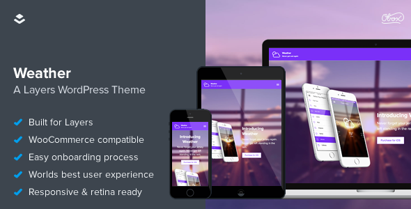 ThemeForest Weather Layers Application One Page Theme 11291467