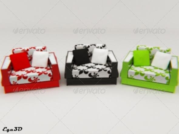 3DOcean Cubic style armchair 139471