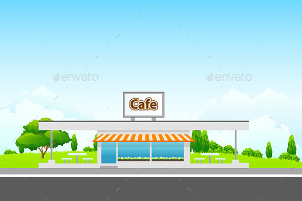 GraphicRiver Landscape with Cafe Building 11291708