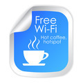 Free wi-fi label