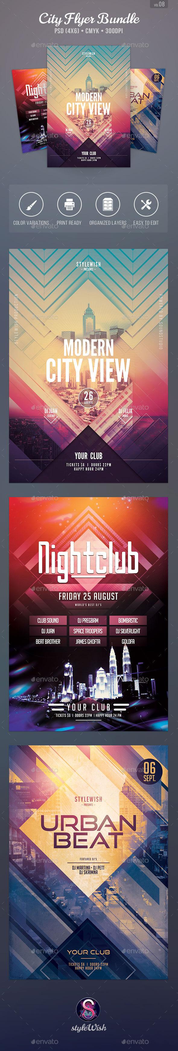 City Flyer Bundle Vol.08 - Clubs & Parties Events