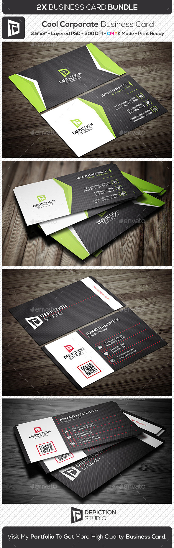 GraphicRiver Cool Corporate Business Card Bundle 11291949