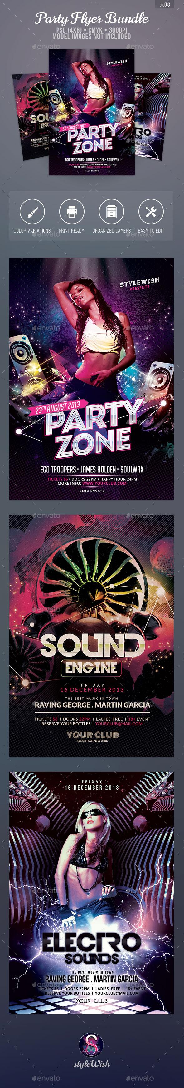 Party Flyer Bundle Vol.8 - Clubs & Parties Events