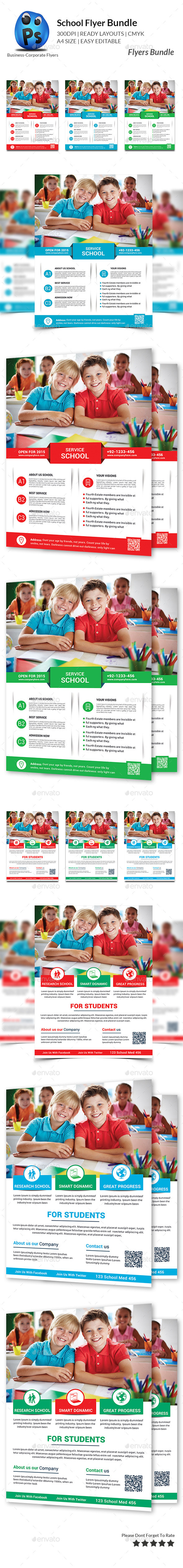 GraphicRiver School Flyers Bundle 11292550