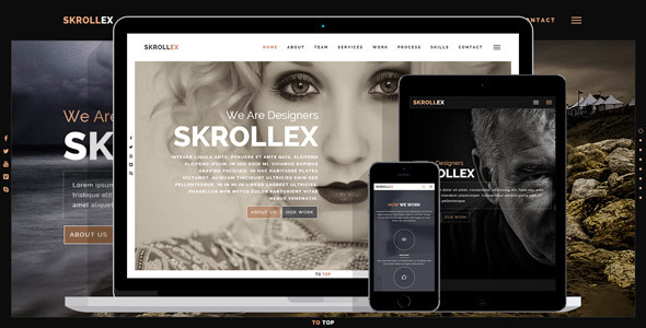 Skrollex – Creative One Page Parallax (Creative) Download