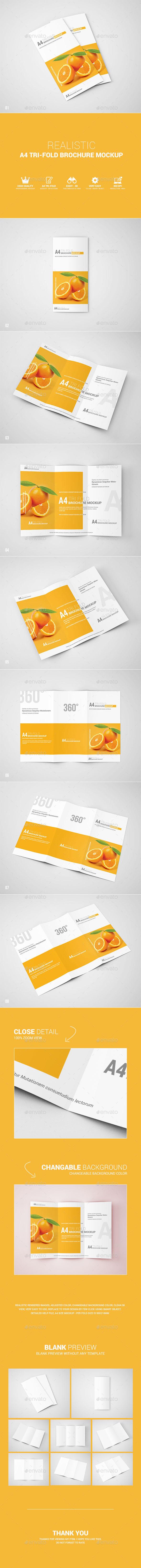 GraphicRiver A4 Tri-Fold Brochure Mockup 11292562
