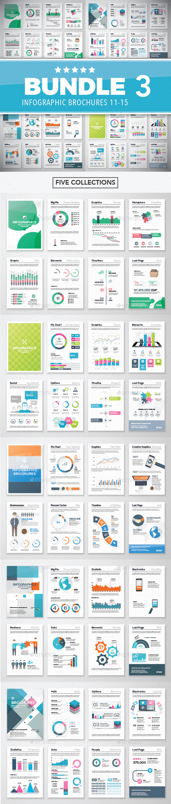 GraphicRiver Infographic Brochure Elements Bundle 3 11292564