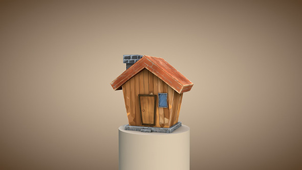3DOcean Low poly cartoon house 11292654