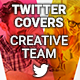 Twitter Profile Covers - Creative Team - GraphicRiver Item for Sale