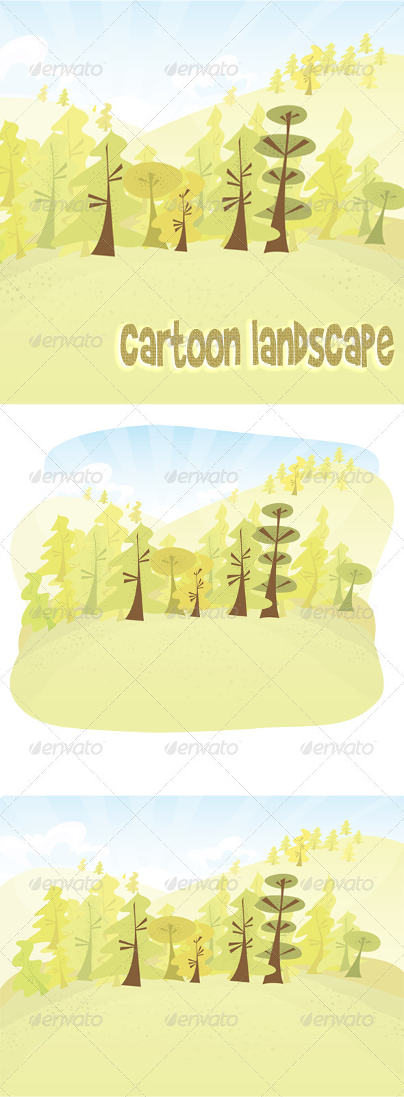 GraphicRiver Vector cartoon forest 1131317