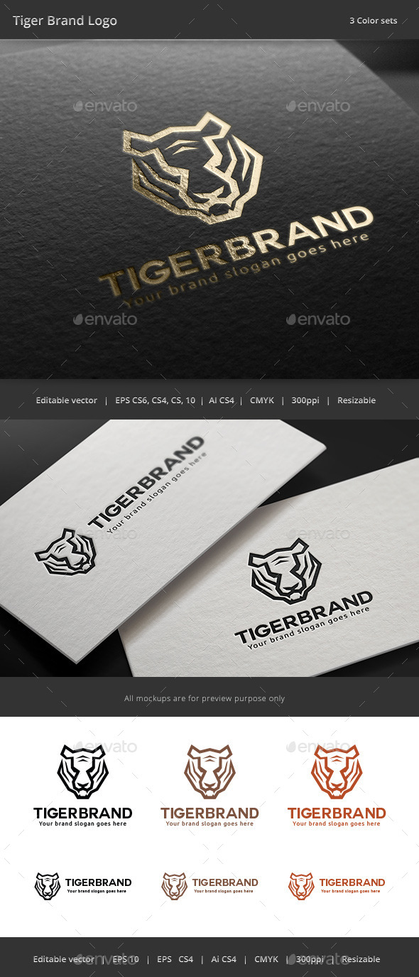 GraphicRiver Tiger Brand Logo 11292746