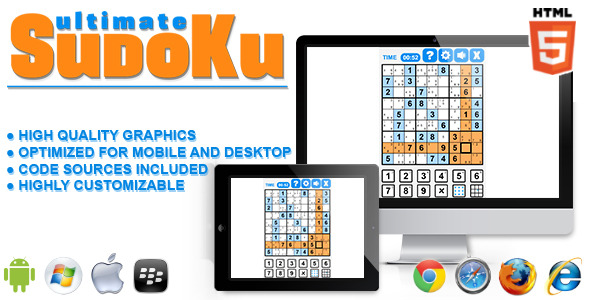 CodeCanyon Ultimate Sudoku HTML5 Game 11292951