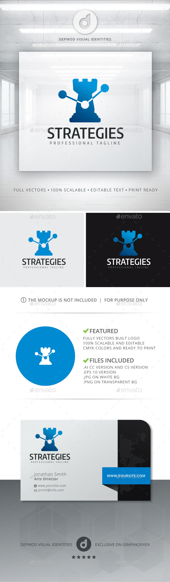 GraphicRiver Strategies Logo 11292974