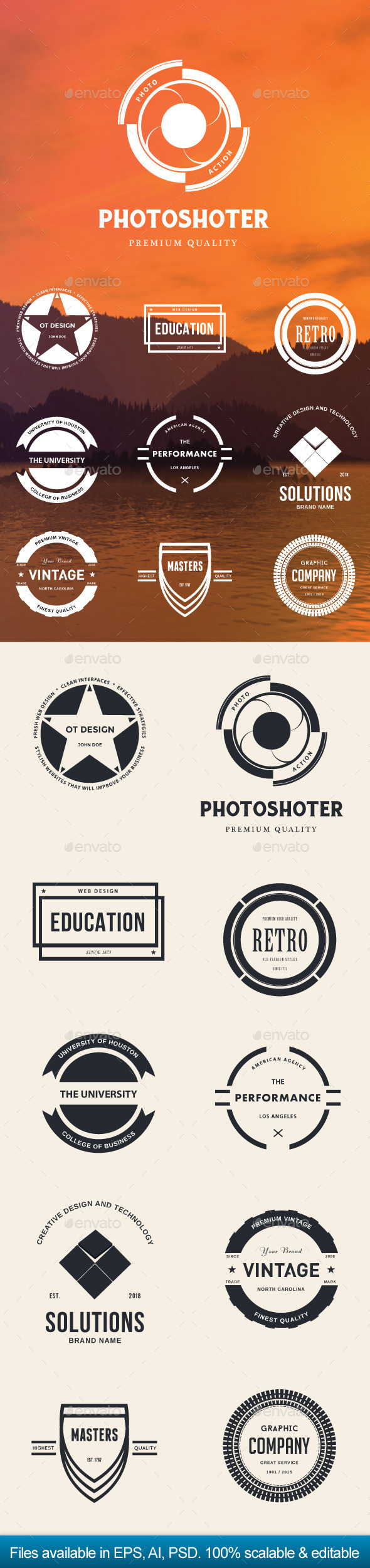 GraphicRiver Modern Retro Badges Vol 2 11293105