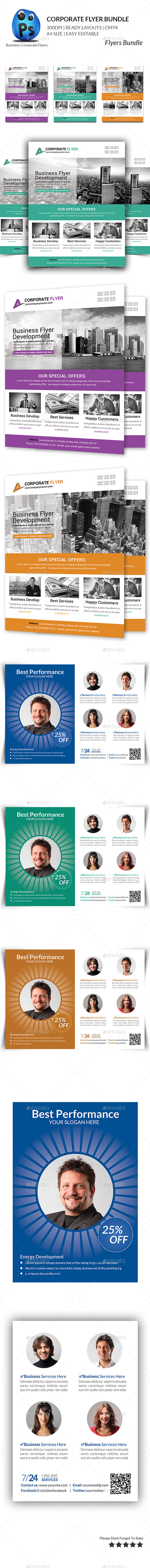 GraphicRiver Corporate Business Flyer Bundle 11293259
