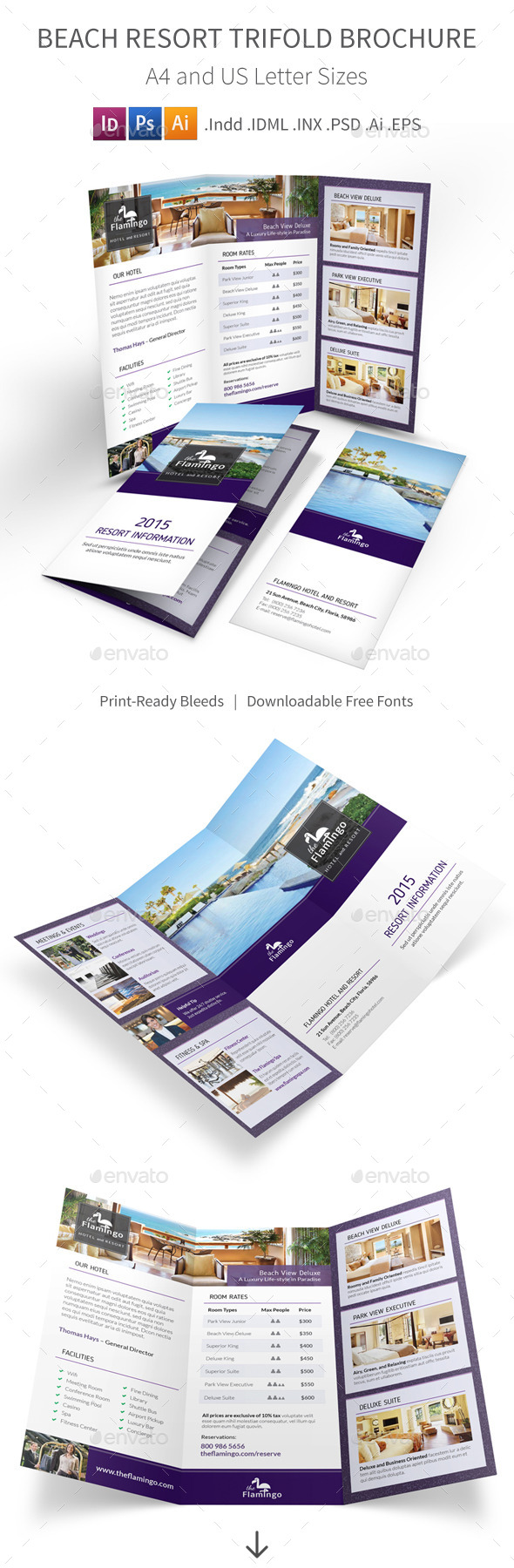GraphicRiver Beach Resort Trifold Brochure 11293348