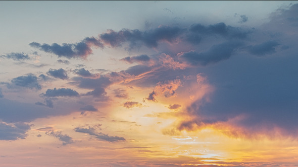 Sunset Clouds In Motion 1