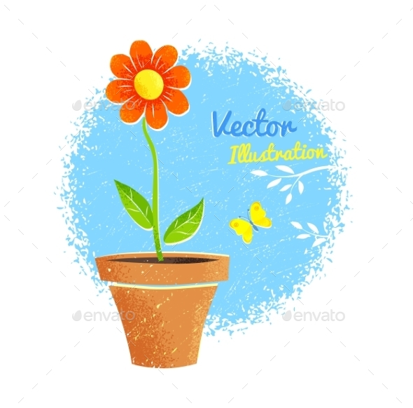 GraphicRiver Flower in Pot 11293689