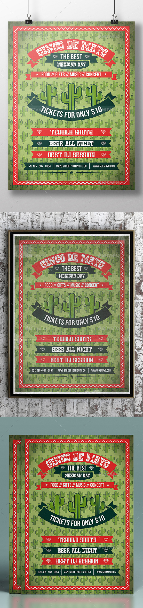 GraphicRiver Cinco de Mayo Flyer Template 11294154