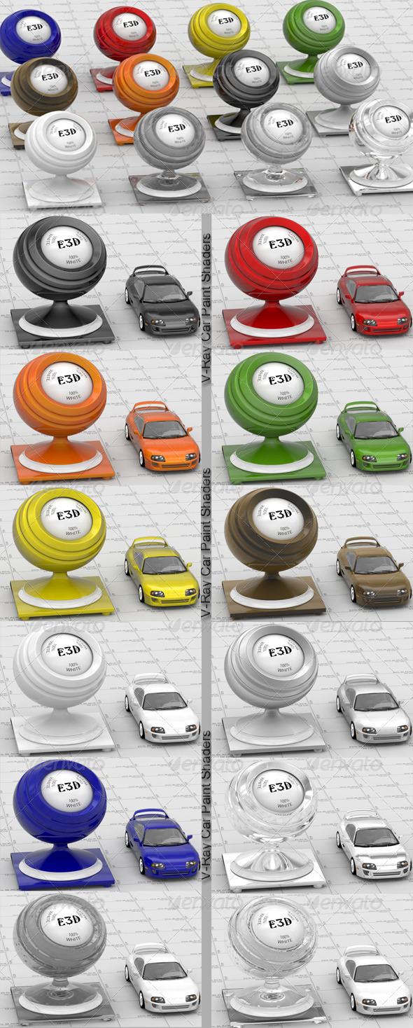3DOcean 12 V-Ray Car Paint shaders 139497
