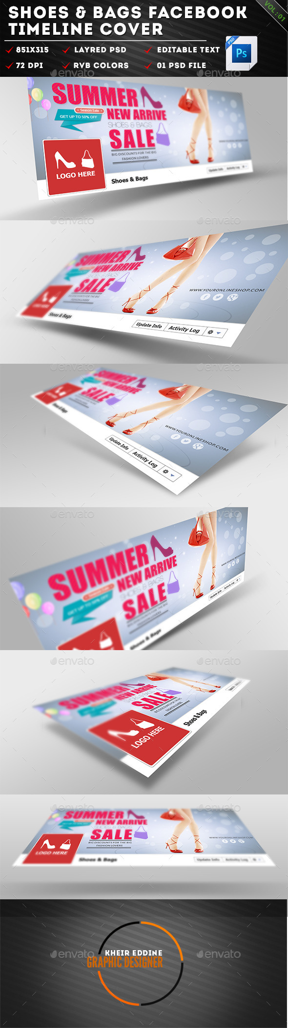 GraphicRiver Shoes & Bags Facebook Timeline Cover Vol 01 11294171