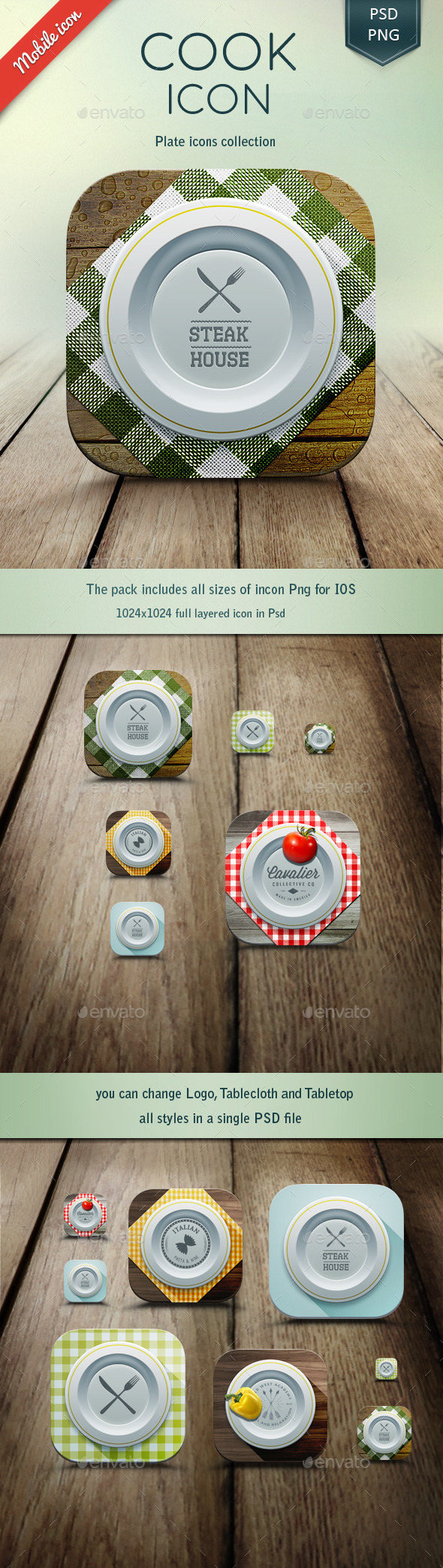 GraphicRiver Cooking iOS Icons 11294383