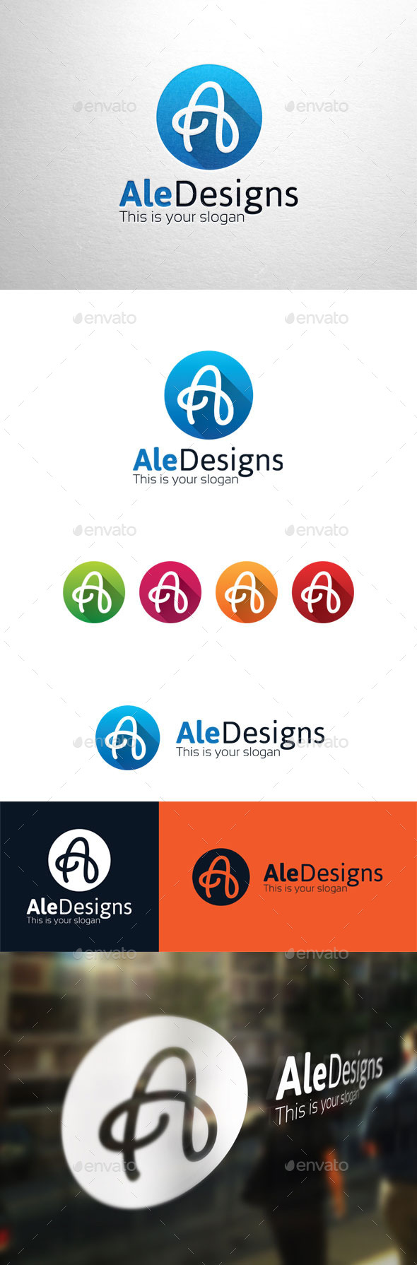 GraphicRiver AleDesigns Letter A Logo 11294425