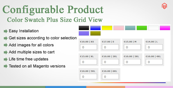CodeCanyon Magento Color Swatches Plus Size Grid View 11294675